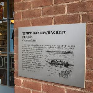 History Plaque at Hackett House
